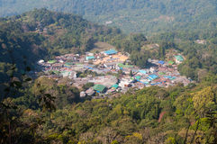 Mong villege. Top view of Mong villege in doi pui,chiangmai Royalty Free Stock Images