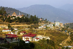 Mongar. View of Mongar, a city in Bhutan Royalty Free Stock Image
