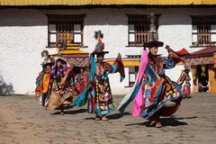 Mongar Tsechu, Black Hat Dancer Royalty Free Stock Image