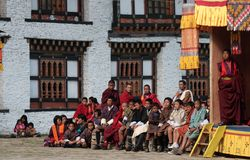 Mongar Tsechu, Spectators Stock Images