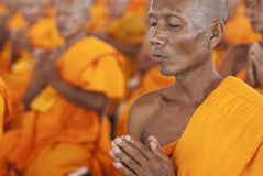 Monge budista em Tailândia Foto de Stock