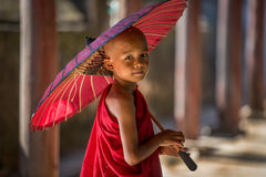 Monge budista pequena Foto de Stock
