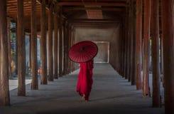 Monge budista pequena Imagens de Stock Royalty Free