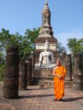 Monge budista tailandesa Imagem de Stock Royalty Free