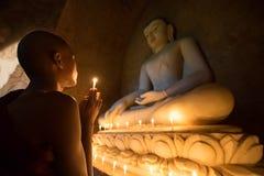Monge de Myanmar Fotos de Stock Royalty Free