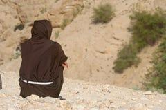 Monge, deserto de Judea fotografia de stock