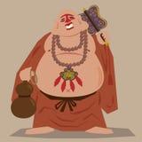 Monge do zen de Buddism Ilustração Royalty Free
