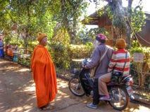 Monge e povos Imagem de Stock Royalty Free