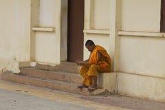 Monge em Cambodia Fotos de Stock Royalty Free