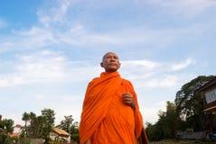 Monge em Tailândia Imagens de Stock Royalty Free