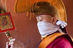 Monge, festival de Tamshing Phala Chhoupa imagens de stock royalty free