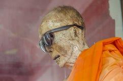 Monge mumificada, Koh Samui imagem de stock