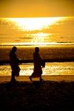 Monge na praia Imagens de Stock