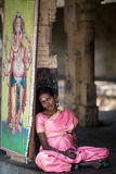 Monge no templo indiano Imagens de Stock Royalty Free