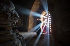 Monge pequena de Myanmar Imagem de Stock Royalty Free