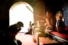 Monge tailandesa Blessing foto de stock