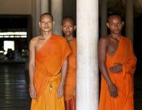 Monges budistas em Cambodia Imagens de Stock