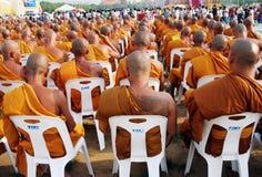 Monges em Tailândia Fotos de Stock Royalty Free