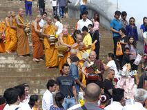 Monges tailandesas fotos de stock
