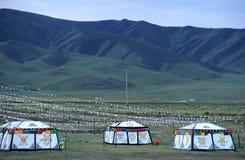 Monggolian yurt stock photos