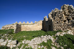 Mongialino's Castle. Mongialino Castle very old medieval castle in Mineo country - Catania - Sicily - Italy Royalty Free Stock Photos