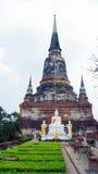 Mongkhon di Wat yai chai un tempio buddista a Ayutthaya Fotografia Stock Libera da Diritti