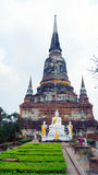 Mongkhon Wat Yai Chai ein buddhistischer Tempel in Ayutthaya Lizenzfreie Stockfotografie