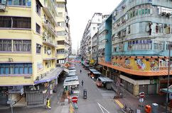 Mongkok district in the morning in Hong Kong Royalty Free Stock Photos