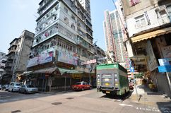 Mongkok district in the morning in Hong Kong Stock Photo