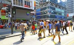 Mongkok do centro, Hong Kong imagem de stock
