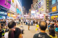 Mongkok Hong Kong, Wrzesień, - 22, 2016: śmieszny przedstawienie na odprowadzeniu Zdjęcie Royalty Free