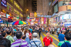 Mongkok Hong Kong, Wrzesień, - 22, 2016: Piosenkarz śpiewa na w Zdjęcie Stock