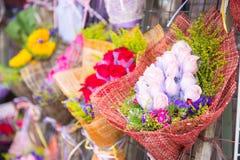 Mongkok Hong Kong, Wrzesień, - 24, 2016: Kwiat i drzewo dla sa Obraz Royalty Free