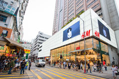 Mongkok Hong Kong, Wrzesień, - 22, 2016: Sklep i sklep w busi Obraz Stock