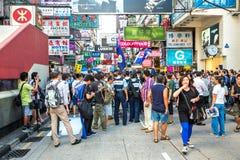 Mongkok shopping street Royalty Free Stock Images