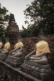 Mongkol de Wat yai chai, Ayutthaya Imágenes de archivo libres de regalías