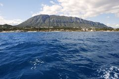 Mongo montgo mountain from sea Denia Stock Photography