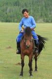 Mongol Equestrian fotografie stock libere da diritti
