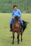 Mongol Equestrian Royalty Free Stock Photos