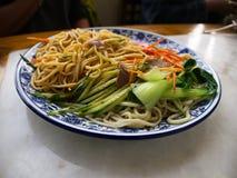 Mongol Noodle con carne de vaca Viaje en Tianjin, China, el 19 de octubre, Imagen de archivo