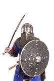 Mongol warrior in armour. Mongol horde warrior in armour holding traditional saber stock images