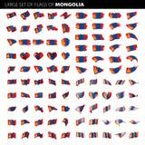 Mongolei-Flagge, Vektorillustration Lizenzfreie Stockfotografie