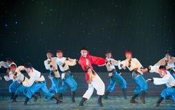 Mongolei-Tanz: Ross lief Lizenzfreie Stockfotos