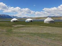 Mongolei - traditioneller Lebensstil und Landschaft in West-Mongolei Stockfotografie