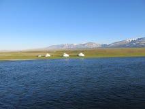 Mongolei - traditioneller Lebensstil und Landschaft in West-Mongolei Lizenzfreie Stockfotos