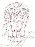 Mongolfiera in forma di cuore, San Valentino di progettazione di vettore illustrazione vettoriale