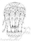 Mongolfiera in forma di cuore, San Valentino di progettazione di vettore illustrazione di stock