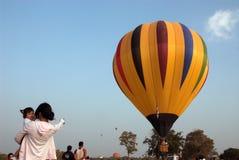 Mongolfiera nel festival internazionale 2009 del pallone della Tailandia Immagini Stock Libere da Diritti