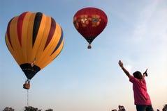 Mongolfiera nel festival internazionale 2009 del pallone della Tailandia Fotografie Stock Libere da Diritti