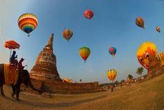 Mongolfiera nel festival internazionale 2009 del pallone della Tailandia Fotografia Stock